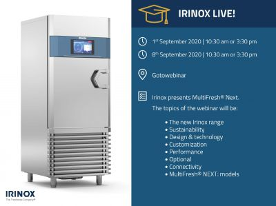MultiFresh® NEXT: discover configurations and performances of the new Irinox blast chiller