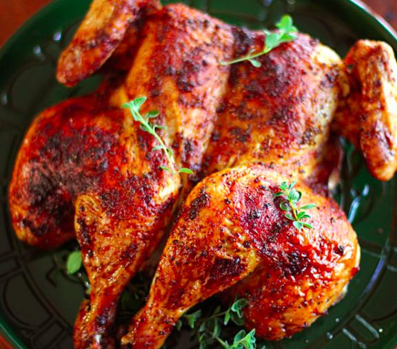 Pollo alla diavola speziato per griglia